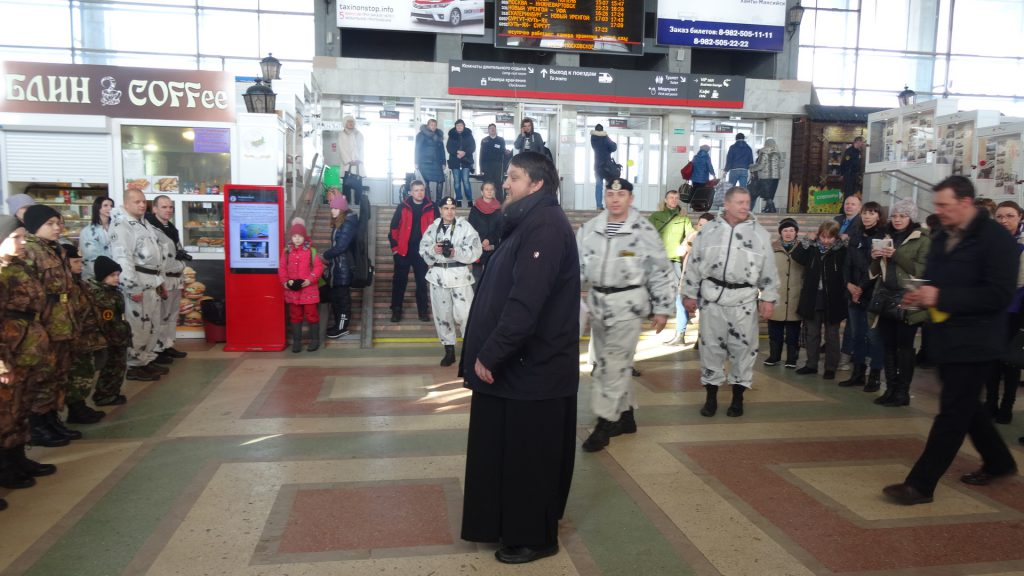 Благословение курсантов военно-морской школы