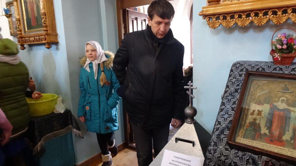 Сбор пожертвований в помощь женскому монастырю